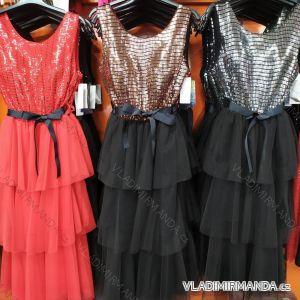Šaty plesové s páskem dámské (uni s-l) ITALSKá MóDA IM720015