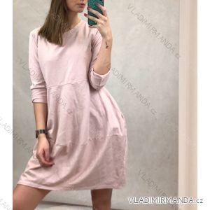 Šaty volnočasové 3/4 dlouhý rukáv dámské (uni M/L) ITALSKá MODA IM720028