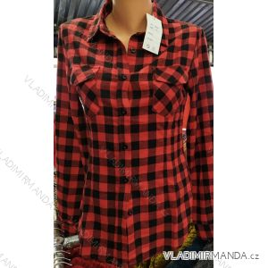 Košile kostičkovaná flanelová dlouhý rukáv dámská (s-xl) ITALSKá MóDA IM720C922