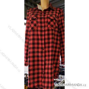 Šaty košile prodloužená kostičkovaná dlouhý rukáv dámské (s-xl) ITALSKá MóDA IM720C932