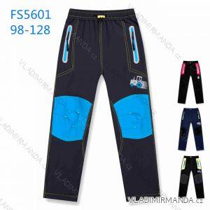 Kalhoty softshell jarní tenké dětské chlapecké dívčí (98-128) KUGO FS5601