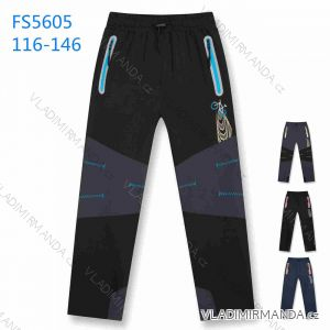 Kalhoty softshell jarní tenké dětské dorost dívčí chlapecké (116-146) KUGO FS5605