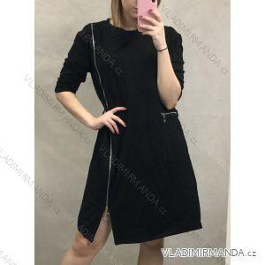 Šaty 3/4 rukáv dámské se zipem (uni m/l) ITALSKá MóDA IM120016