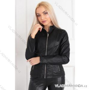 Bunda jarní koženka dámská (s-xl) Polská moda JMK20020