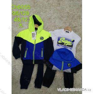 Souprava tepláky, mikina s kapucí a tričko dětská chlapecká (98-128) SAD SAD20CH6055