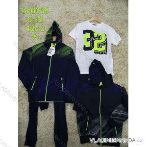 Souprava tepláky, mikina s kapucí a tričko dětská chlapecká (6-16 let) SAD SAD20CH6059