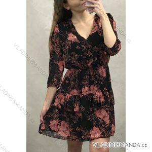 Šaty elegantní 3/4 rukáv dámské (uni s-m) ITALSKá MóDA IM120183