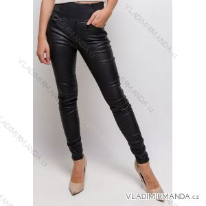 Legíny kalhoty dlouhé koženkové dámské (34-42) FRANCOUZSKÁ MODA IMF20E034