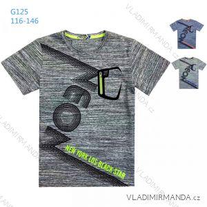 Tričko krátký rukáv dětské a dorost chlapecké (116-146) KUGO G125
