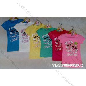Tričko krátký rukáv s lebkou dětské dívčí (98-128) ARTENA 91020