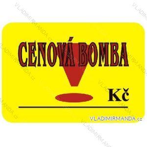 Visačky 52x74mm cenová bomba, balení 100 ks
