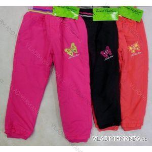Kalhoty plátěné kokjenecké a dětské dívčí s flaušovou podšívkou (86-110) GOOD CHILDREN CCP-37