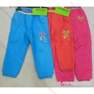 Kalhoty plátěné kojenecké a  dětské dívčí s flaušovou podšívkou (86-110) GOOD CHILDREN CCP-38