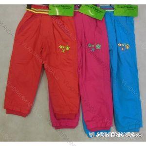 Kalhoty plátěné kojenecké a  dětské dívčí s flaušovou podšívkou (86-110) GOOD CHILDREN CCP-39