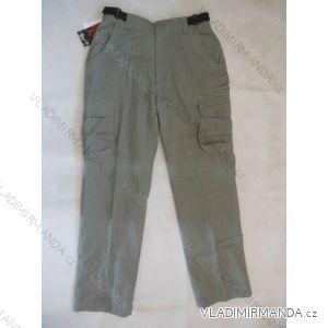 Kalhoty teplé pánské v pase do gumy bavlněné (l-3xl) BATY QNAM-2LOP