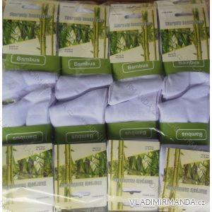 Ponožky slabé pánské bambusové (35-46) BAMBUS PB01-BILE