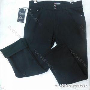 Kalhoty plátěné  teplé dámské flaušová podšívka (30-42) SUNBIRD SHH5710A
