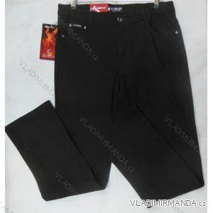 Kalhoty plátěné hrubé teplejší dámské (30-42/černá) SUNBIRD SUN18SL7832