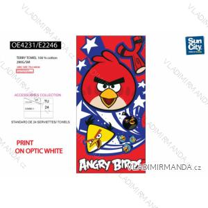 Osuška angry birds dětská chlapecká (univerzální) SUN CITY OE4231