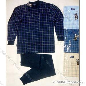 Pyžamo dlouhá nohavice pánské bavlněné nadrozměrné (xl-4xl) HAF W-040C
