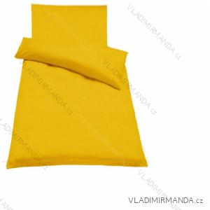 Ložní povlečení bavlněné 70x140cm+70x90cm BYTOVÝ TEXTIL guru UNI melír