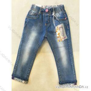 Rifle jeans  kojenecké a dětské dívčí bavlněné (80-104) KUGO K807