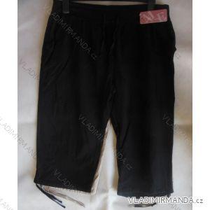 Kalhoty 3/4 krátké dámské bavlněné nadrozměrné (l-4xl) M. ELYSEE ME-1508
