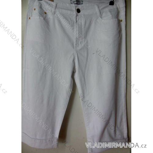 Kalhoty plátěné 3/4 krátké nadrozměrné dámské (42-52) SMILING JEANS N421