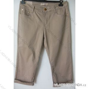 Kalhoty plátěné 3 4 krátké dámské (38-48) SMILING JEANS N457 632c245758