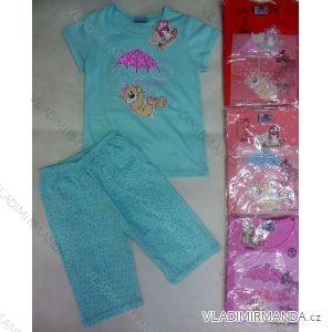 Pyžamo krátký rukáv a 3/4 nohavice dětské a dorost dívčí bavlněné (98-134) ARTENA 93081