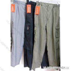 Kalhoty plátěné  dlouhé nohavice pánské nadrozměrné (xl-4xl) SANDY 853B