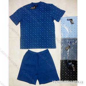 Pyžamo krátká nohavice pánské bavlněné nadrozměrné ( xl-4xl) HAF W-036B