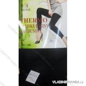 Legíny dlouhé teplé thermo nízký pas dámské bambusové (m-xxl/černé) RUYIZ YB-1505