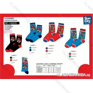 Ponožky super mario  dětské chlapecké (27-34) SUN CITY HO4701