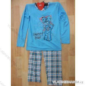 Pyžamo dámské dlouhé (m-xxl) IRIS FLOWER 26-605 TIPDAREK