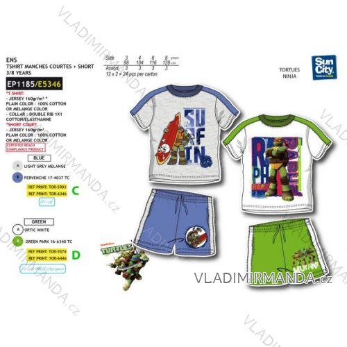 ad940073f275 Súprava letné tričko a kraťasy korytnačky ninja detská chlapčenská bavlnená  (3-8 rokov)