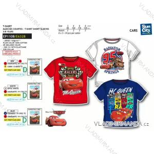 Tričko krátký rukáv cars dětské chlapecké (3-8 let) SUN CITY EP1108